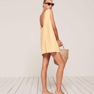 Reformation Barbados dress in butter cup